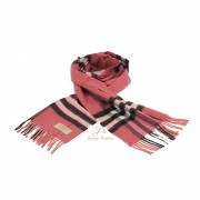 BURBERRY The Classic Check Cashmere Scarf in Blush Pink