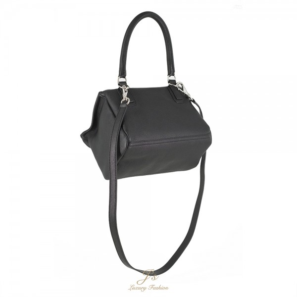 GIVENCHY PANDORA SMALL LEATHER SHOULDER BAG in Black Goat Leather