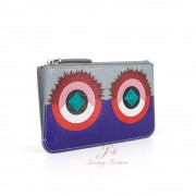FENDI CRAYONS Small Leather Key Purse in Multicolour