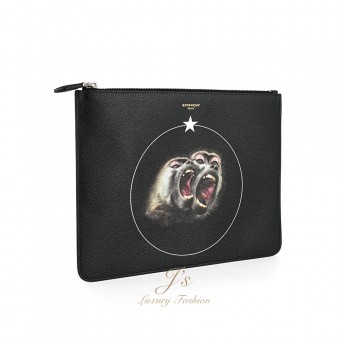 GIVENCHY LARGE DOCUMENT CASE WITH MONKEYS PRINT
