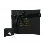 GIVENCHY 'STAR' LEATHER CARD HOLDER IN BLACK