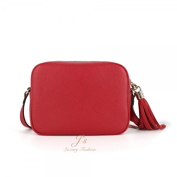 Gucci Soho Leather Disco Shoulder Bag in Red