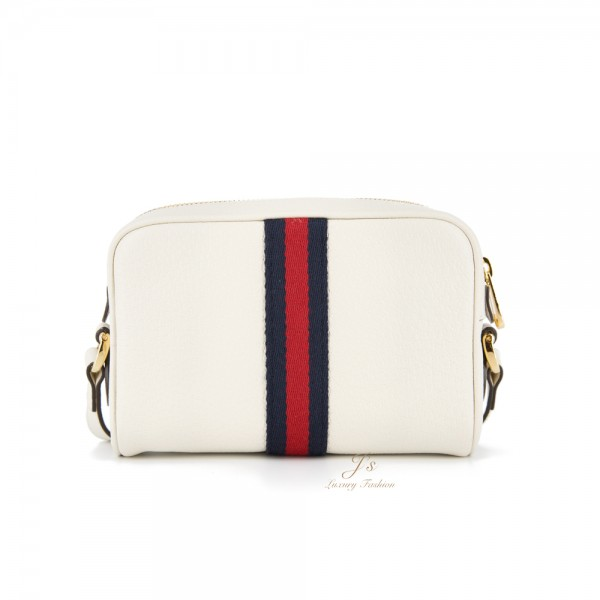 GUCCI OPHIDIA MINI BAG IN WHITE