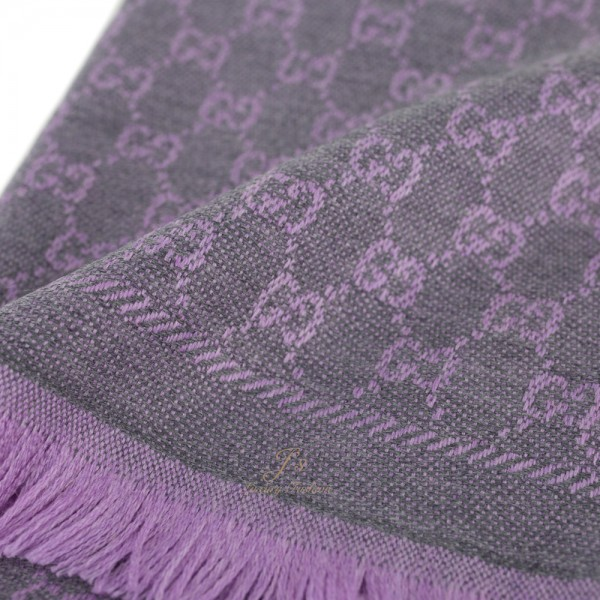 GUCCI GG Scarf in Purple