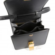 CELINE SMALL CLASSIC BOX SHOULDER BAG IN BLACK (NEW LOGO) (WITH VIP PRICE)