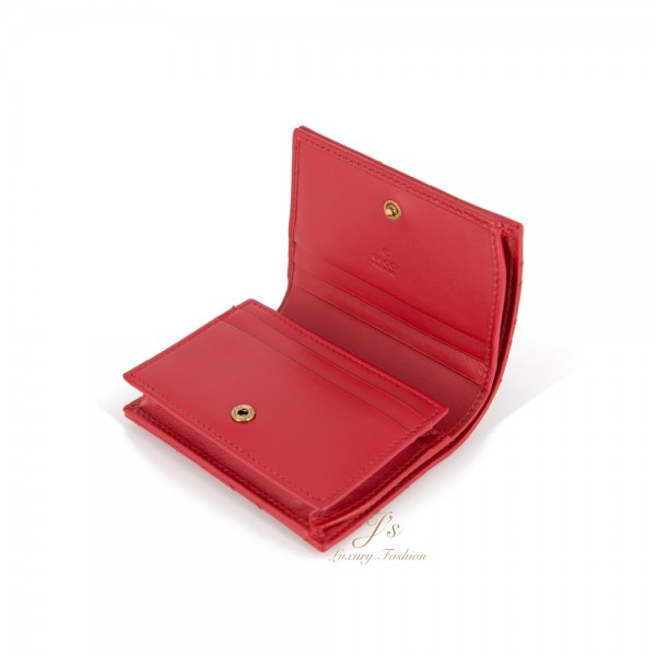 GUCCI GG MARMONT SMALL WALLET IN RED