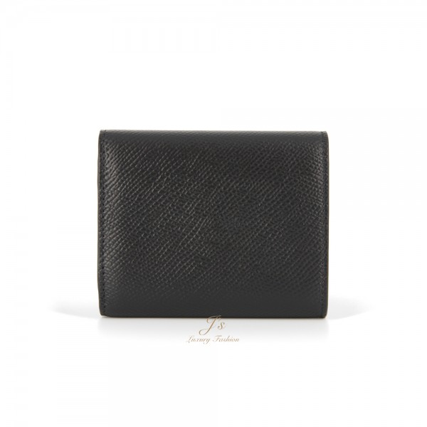 CELINE SMALL TRI-FOLD WALLET IN BLACK (NEW LOGO)