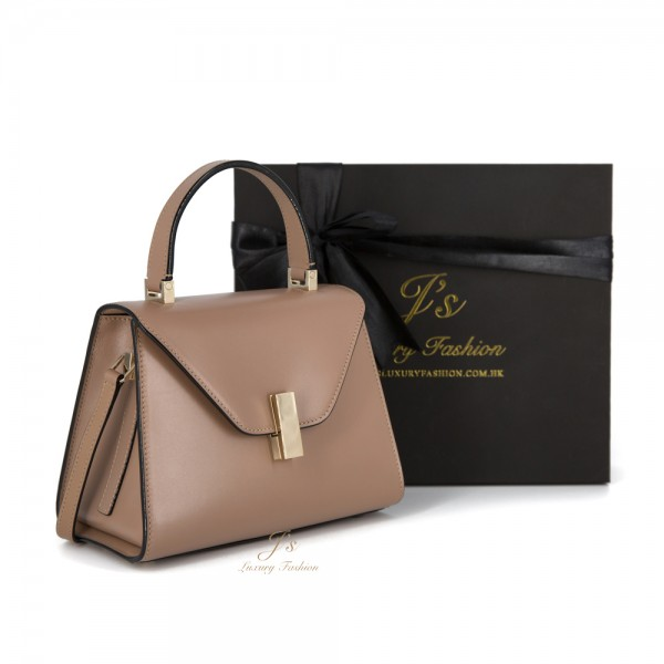 VALEXTRA ISIDE GIOIELLO MINI LEATHER SHOULDER BAG IN BEIGE
