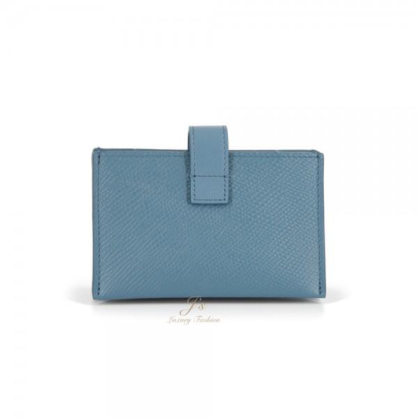 CELINE ACCORDEON CARD HOLDER IN SLATE BLUE (NEW LOGO)