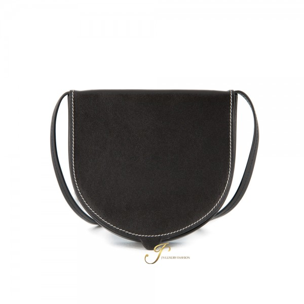 LOEWE HEEL POUCH SMALL IN BLACK