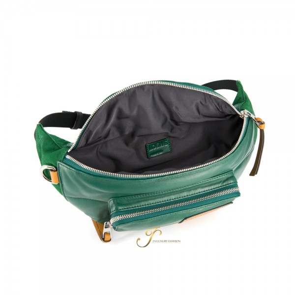 LOEWE BUMBAG PUFFY IN FOREST GREEN