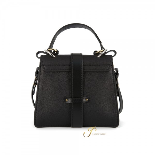 CHLOÉ SMALL ABY DAY SHOULDER BAG IN GRAINED & SHINY CALFSKIN