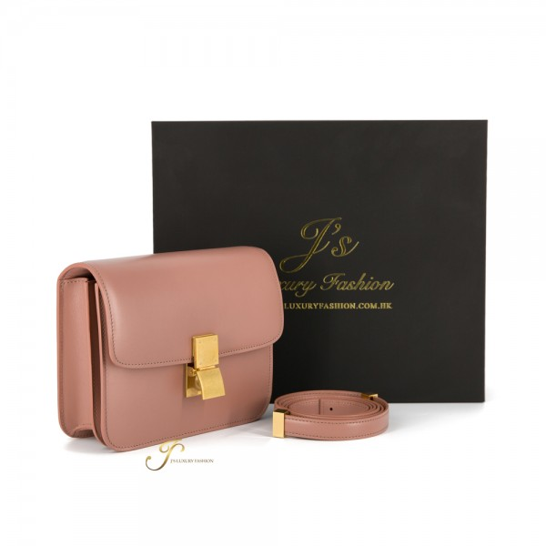 CELINE TEEN CLASSIC BOX IN CALFSKIN (WITH VIP PRICE) (NEW LOGO) IN ANTIQUE ROSE
