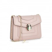 BVLGARI SERPENTI FOREVER SMALL FLAP COVER BAG IN CRYSTAL ROSE