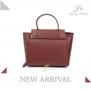 CELINE NANO BELT HANDBAG IN GRENAT GRAINED CALFSKIN (NEW LOGO)