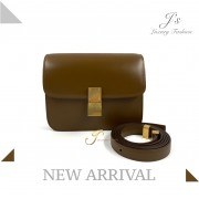 CELINE TEEN CLASSIC BOX IN CAMEL CALFSKIN (WITH VIP PRICE) (NEW LOGO)