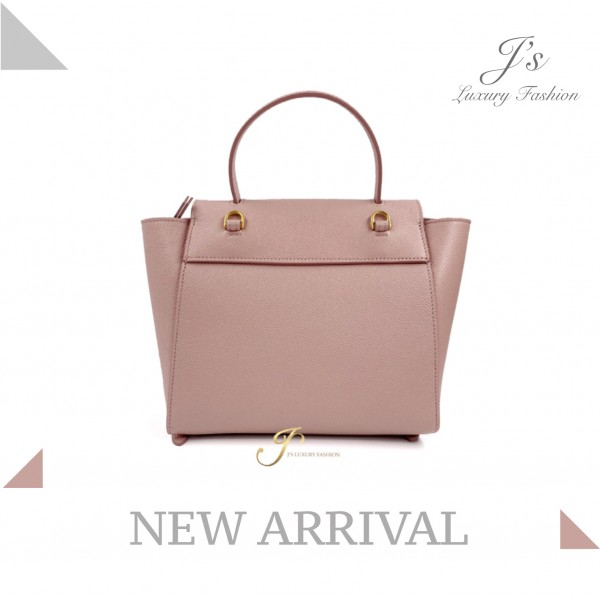 CELINE NANO BELT HANDBAG IN VINTAGE PINK GRAINED CALFSKIN (NEW LOGO)