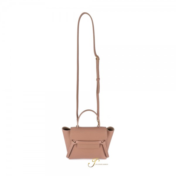 CELINE NANO BELT HANDBAG IN DESERT ROSE GRAINED CALFSKIN (NEW LOGO)
