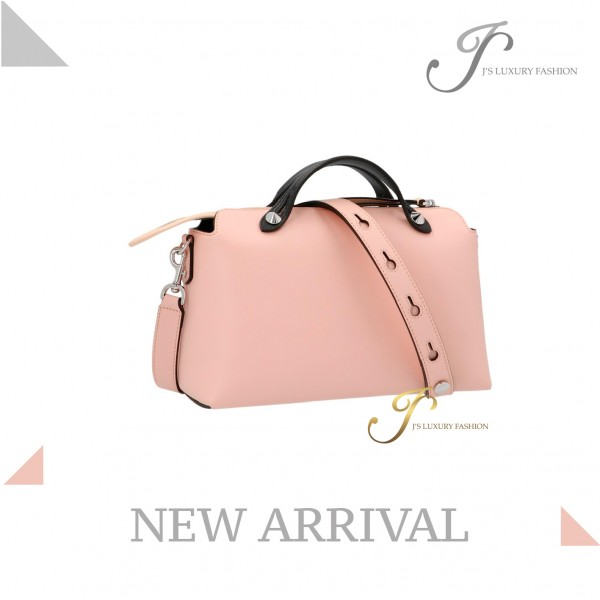 FENDI BY THE WAY MEDIUM LEATHER TOTE IN PINK MULTICOLOUR