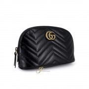 GUCCI GG MARMONT LARGE COSMETIC CASE IN BLACK